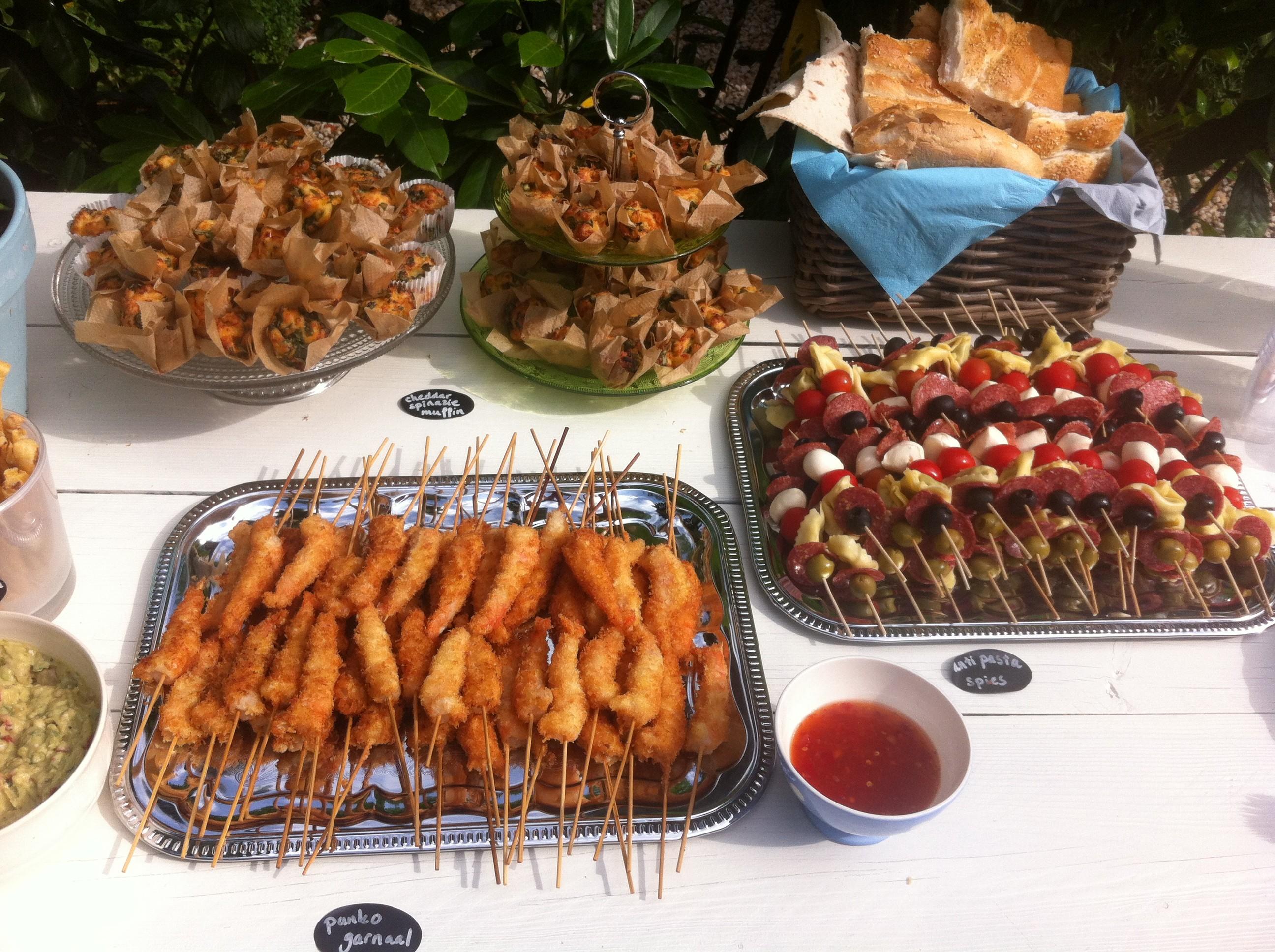 Panko shrimps and antipasto kebabs | more recepies at www.notafraidofbutter.nl