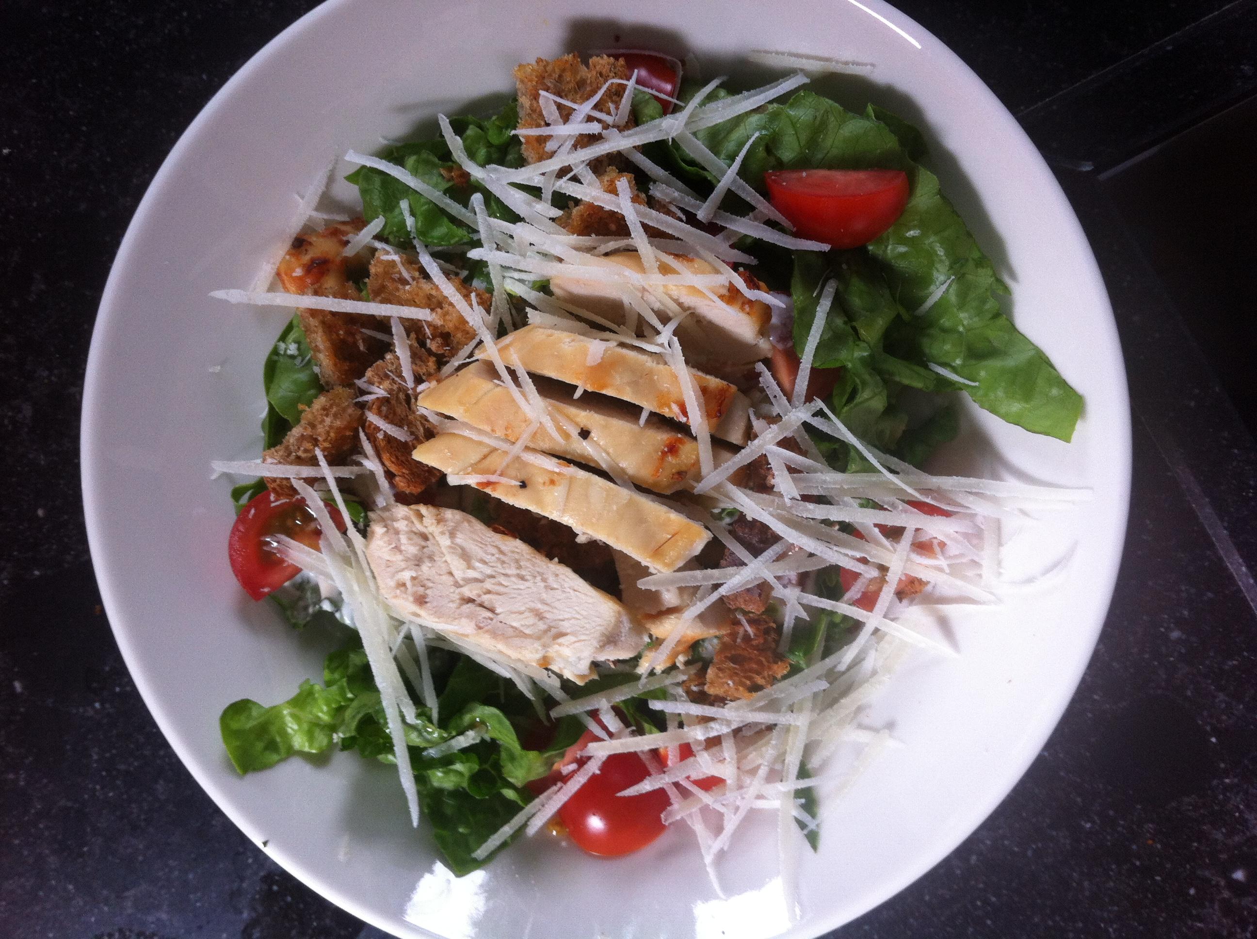 Ceasar salade met karnemelk kip | more #recepies at www.notafraidofbutter.nl