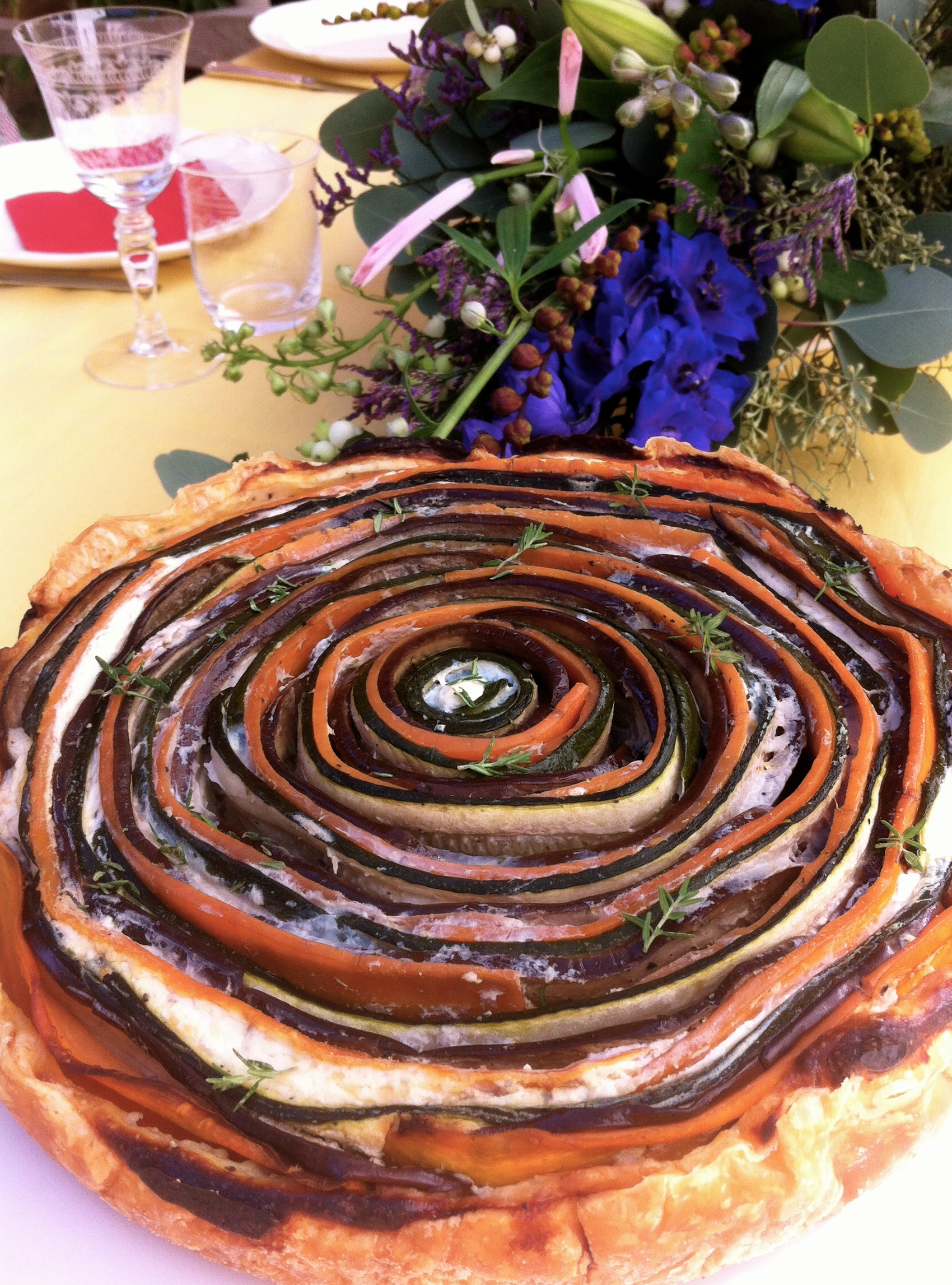 vegetable spiral pie | more recipes at www.notaraidofbutter.nl