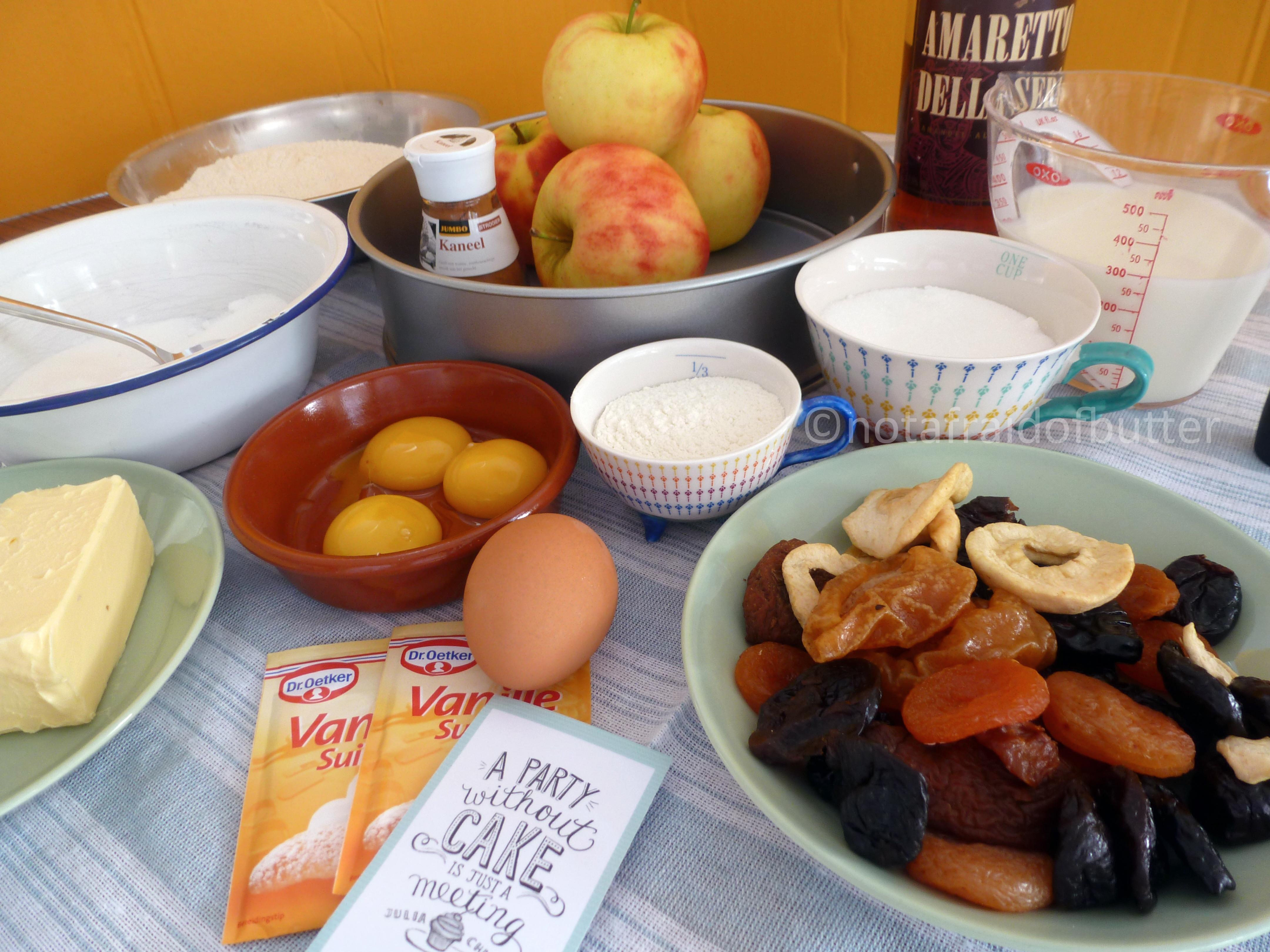 Ingredients for apple crumble | notafraidofbutter.nl