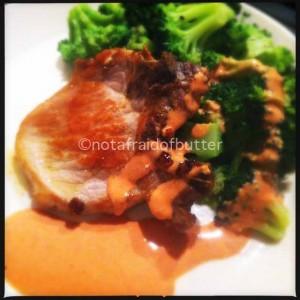 Notafraidofbutter.nl|Roast porc with sauce Nénette from Julia Child