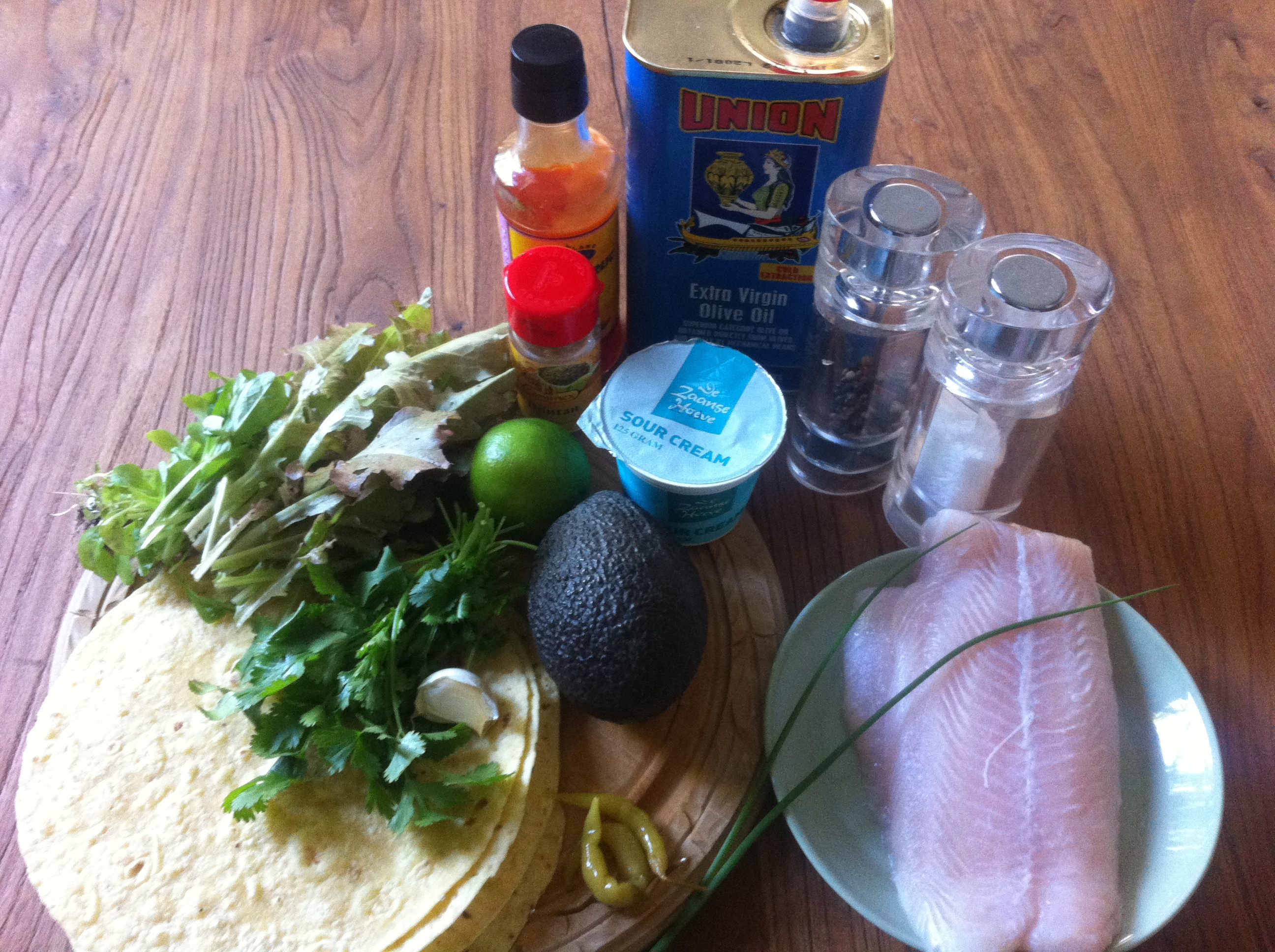 Fish tortilla with cilantro and lime | more #recipes at www.notafraidofbutter.nl