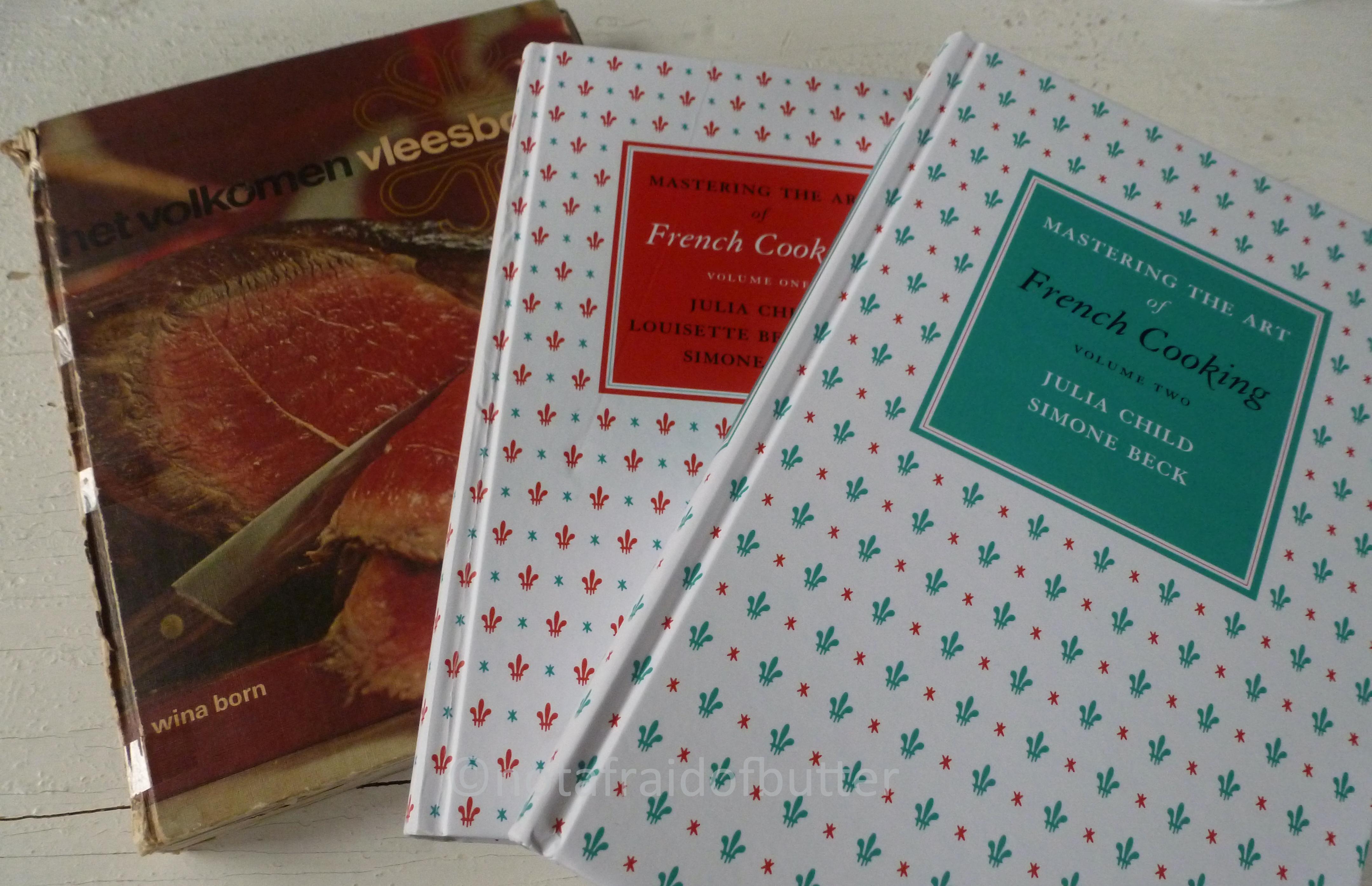 Cookbooks Wina Born and Julia Child | notafraidofbutter.nl