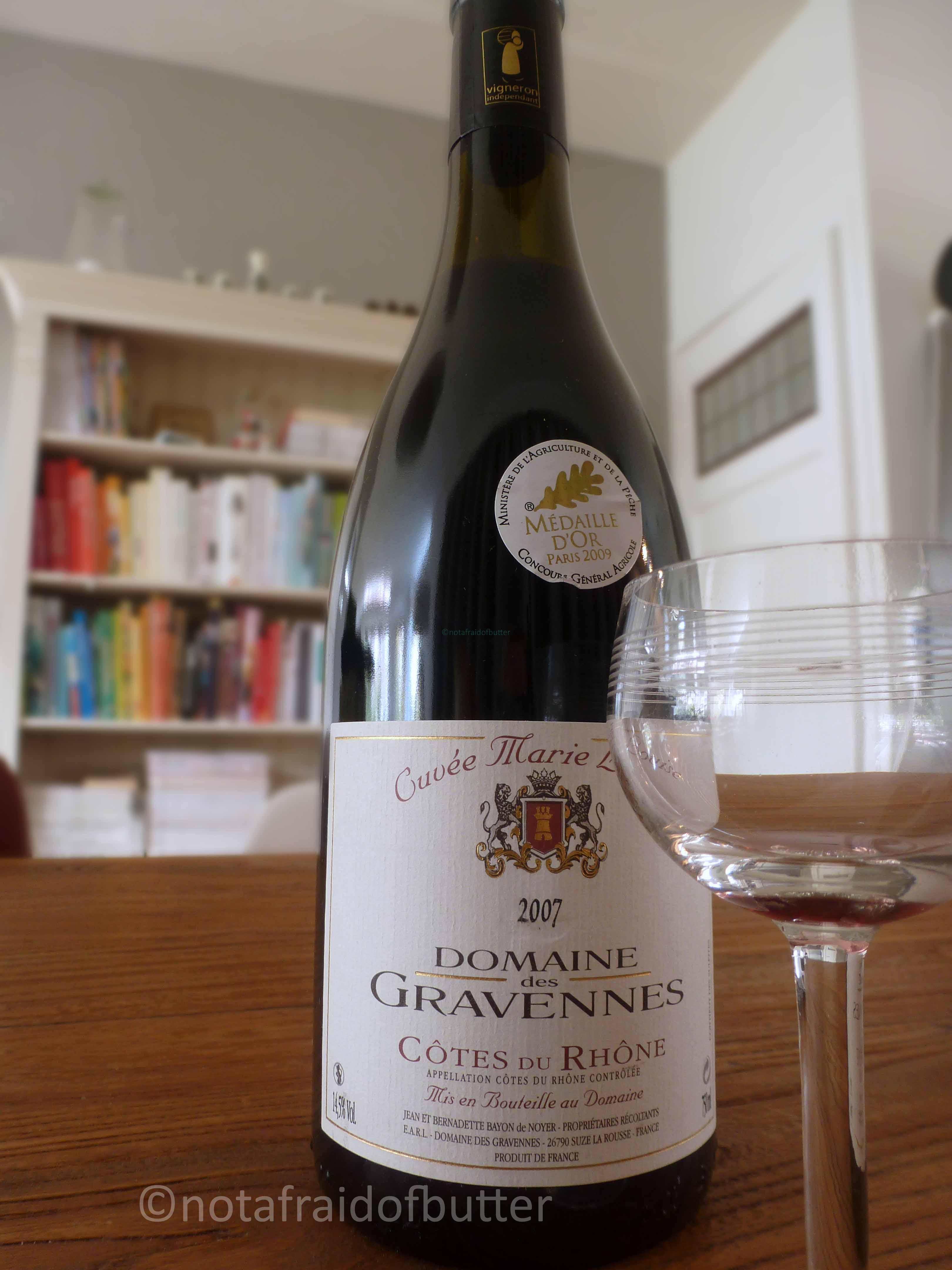 The wine for the Boeuf Bourguignon | notafraidofbutter.nl