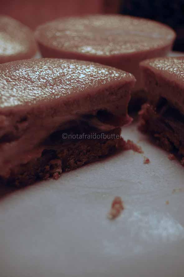 notafraidofbutter.nl   Cheesecake with crème de marron surprise filling