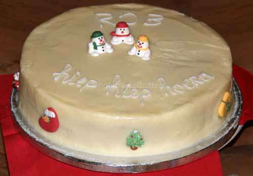 notafraidofbutter.nl   Chocolate Christmas cake